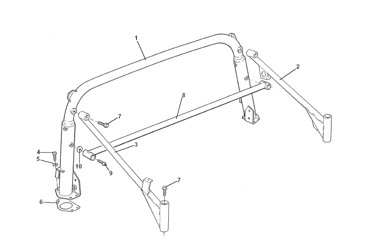 Seat Belt Mounting Frame, Stays
