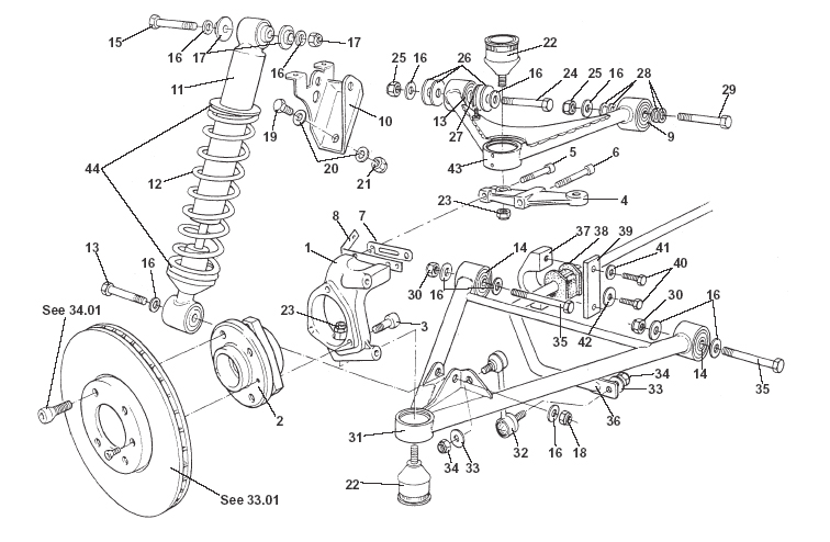 Front Suspension, Incl. Hubs