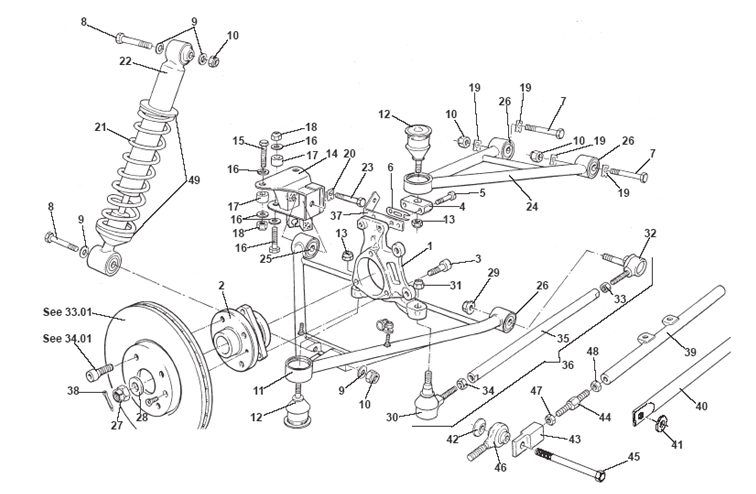 Rear Suspension, Incl. Hubs