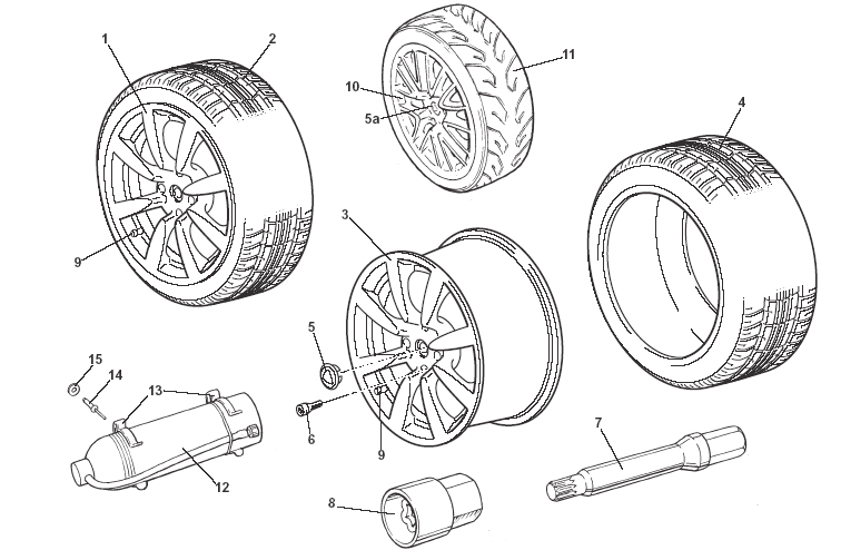 Wheels, Tires & Valves