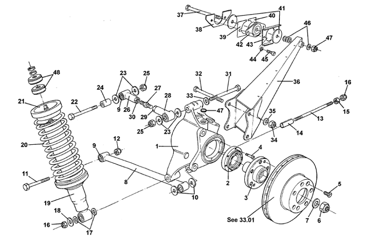 lotus rear suspension diagram  lotus  auto parts catalog