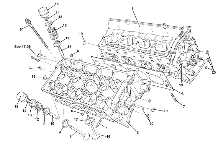 Cylinder Head, Valves, Springs, V8
