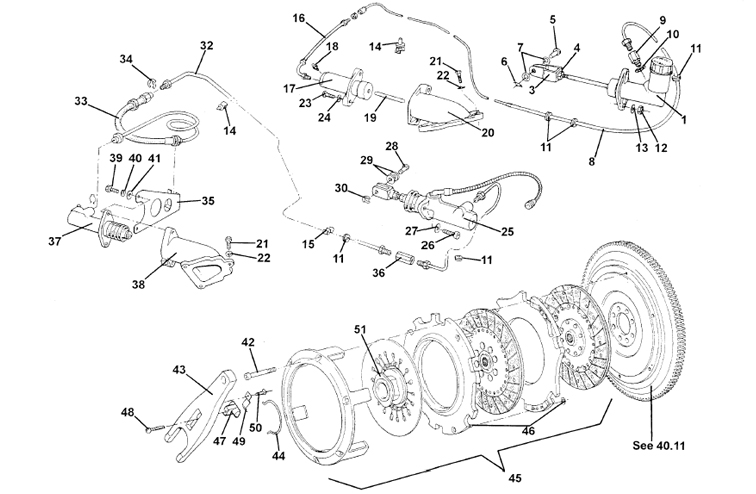 Clutch & Release Mechanism, V8