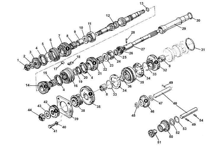Gears, Shafts & Bearings