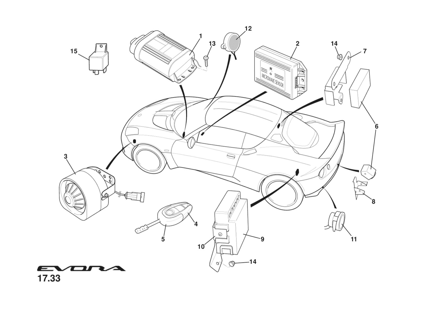 A132u0166f 08 Bracket Reversing Camera Mounting Lotus Garage Reverse Parking Sensor Circuit For Car Security System